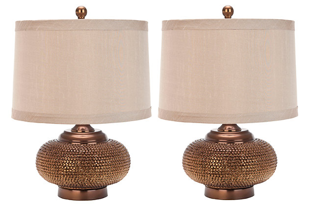 Textured Metal Table Lamp (Set of 2), , large