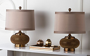 Textured Metal Table Lamp (Set of 2), , rollover