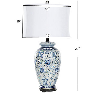 Jar Shaped Floral Table Lamp, , large