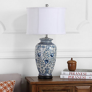 Jar Shaped Floral Table Lamp, , rollover