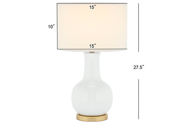 Ceramic Paris Table Lamp, White, large