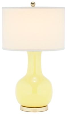 Ceramic Paris Table Lamp, Yellow, large