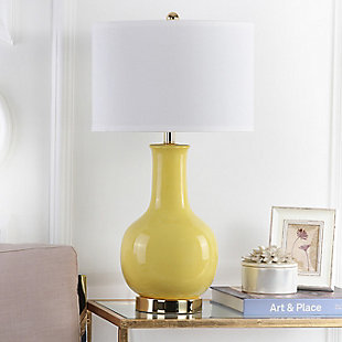 Ceramic Paris Table Lamp, Yellow, large