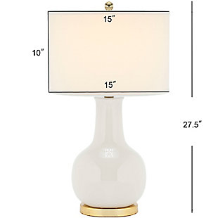 Ceramic Paris Table Lamp, Light Gray, large