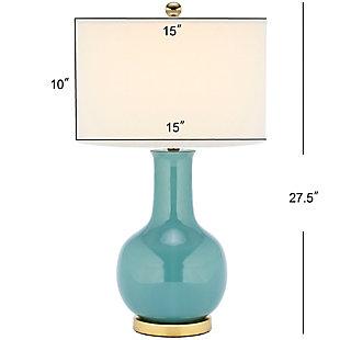 Ceramic Paris Table Lamp, Teal, large