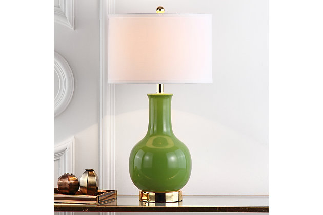 Ceramic Paris Table Lamp, Avocado, large