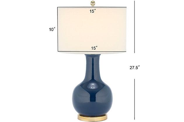Ceramic Paris Table Lamp, Navy, large