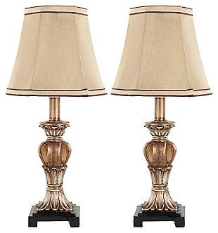 Urn Shaped Mini Table Lamp (Set of 2), Bronze Finish, large