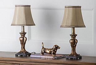 Urn Shaped Mini Table Lamp (Set of 2), Bronze Finish, rollover