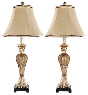 Urn Shaped Mini Table Lamp (Set of 2), Gold Finish, large
