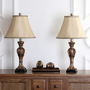 Urn Shaped Mini Table Lamp (Set of 2), Gold Finish, rollover