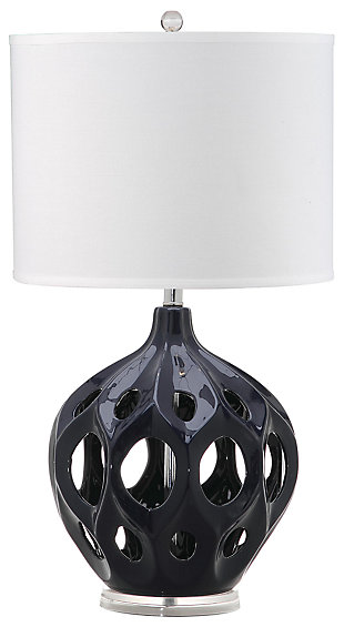 Ceramic Table Lamp, Navy, large