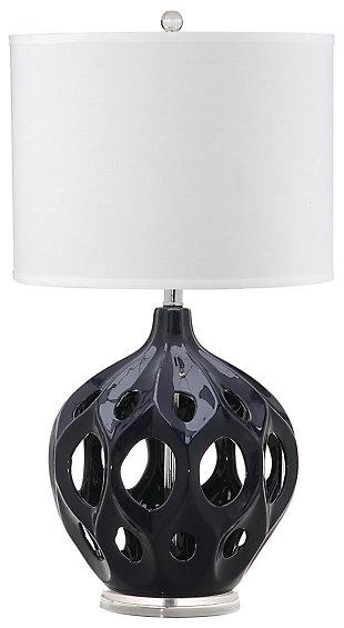 Ceramic Table Lamp, Navy, large