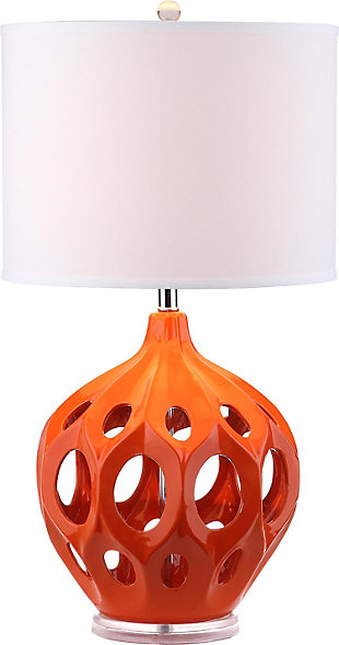 Ceramic Table Lamp, Orange, large