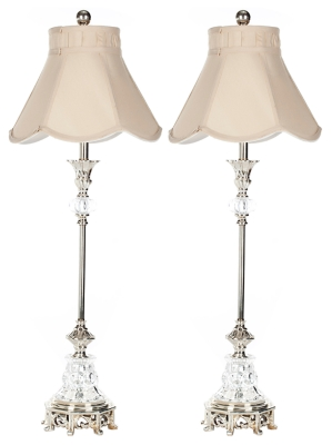 Image of Candlestick Table Lamp (Set of 2), Transparent