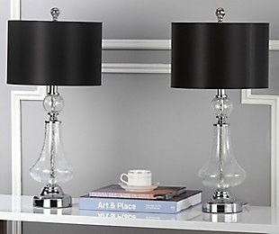 Crackle Glass Table Lamp (Set of 2), Transparent, rollover
