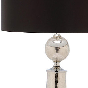 Crackle Glass Table Lamp (Set of 2), Ivory/Silver, large