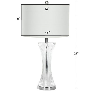 Fluted Glass Table Lamp (Set of 2), , large