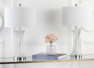 Fluted Glass Table Lamp (Set of 2), , rollover