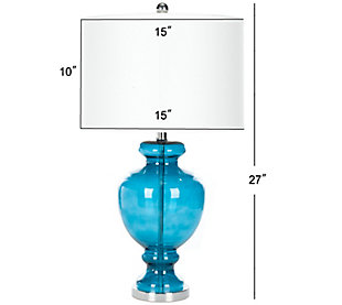 Translucent Glass Table Lamp (Set of 2), Transparent Blue, large