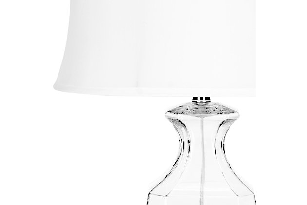 Oval Shaped Glass Table Lamp (Set of 2), , large