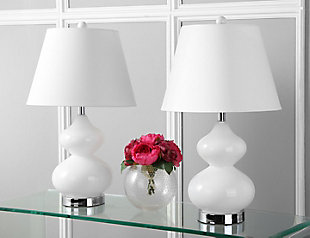 Glass Double Gourd Table Lamp (Set of 2), White, rollover