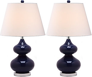 York Double Gourd Table Lamp (Set of 2), Navy, large