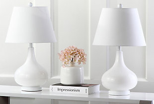 Antwerp Gourd Table Lamp (Set of 2), White, rollover
