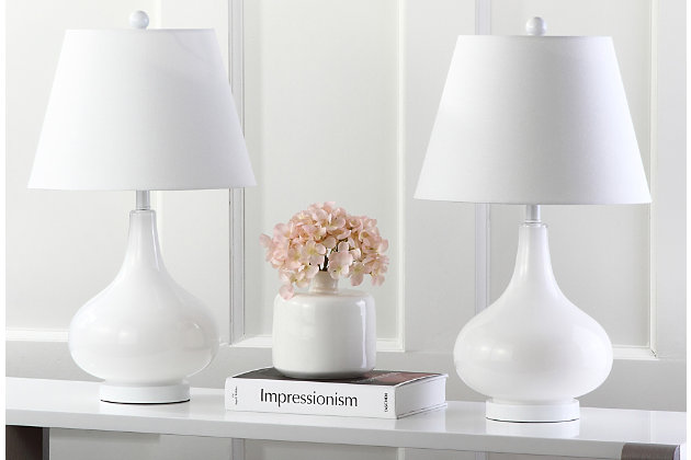 Antwerp Gourd Table Lamp (Set of 2), White, large