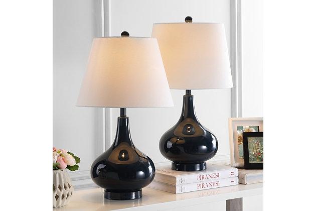 Antwerp Gourd Table Lamp (Set of 2), Navy, large