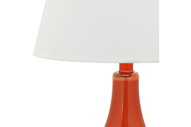 Antwerp Gourd Table Lamp (Set of 2), Orange, large