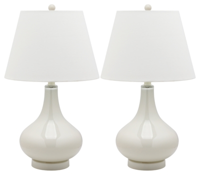 Antwerp Gourd Table Lamp (Set of 2), Pearl, large