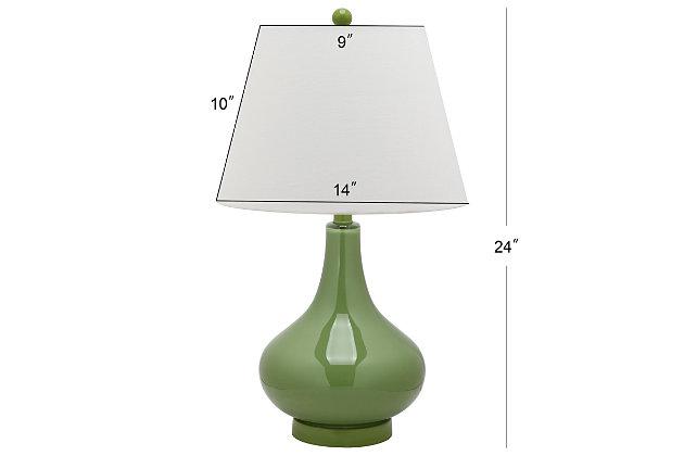 Antwerp Gourd Table Lamp (Set of 2), Avocado, large