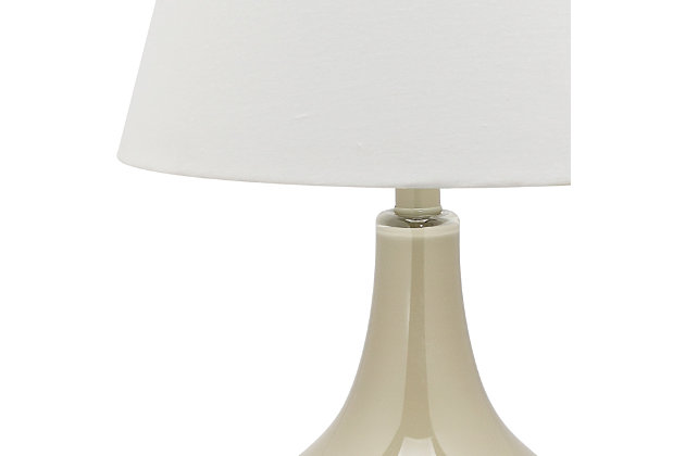 Antwerp Gourd Table Lamp (Set of 2), Taupe, large