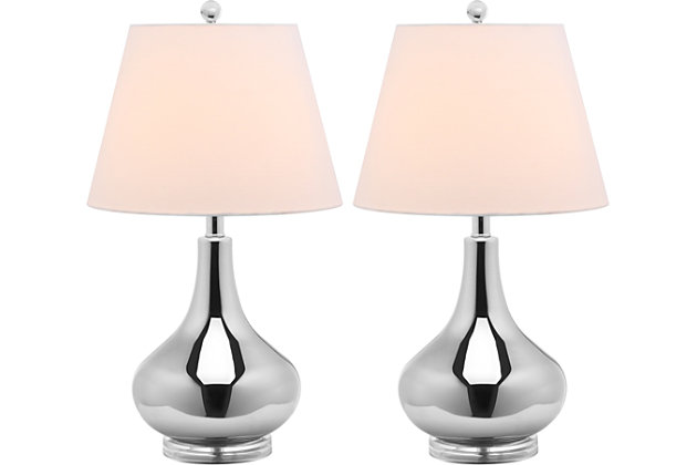 Antwerp Gourd Table Lamp (Set of 2), Silver, large
