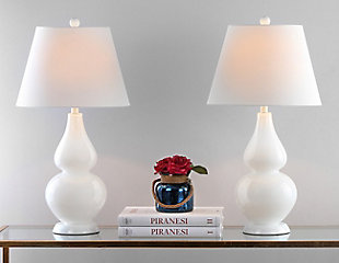 Brixton Double Gourd Table Lamp (Set of 2), Cream, large
