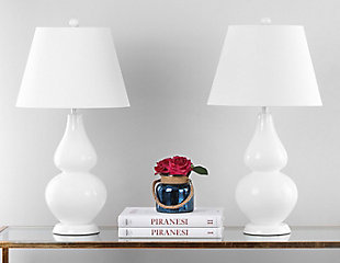 Brixton Double Gourd Table Lamp (Set of 2), Cream, rollover