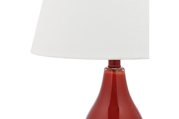 Brixton Double Gourd Table Lamp (Set of 2), Sangria, large