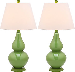 Brixton Double Gourd Table Lamp (Set of 2), Avocado, large