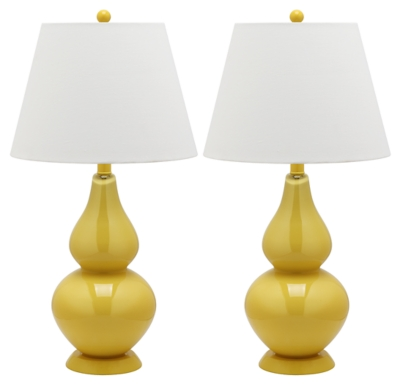 Brixton Double Gourd Table Lamp (Set of 2), Yellow, large