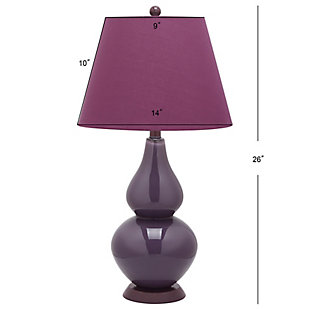 Brixton Double Gourd Table Lamp (Set of 2), Plum, large