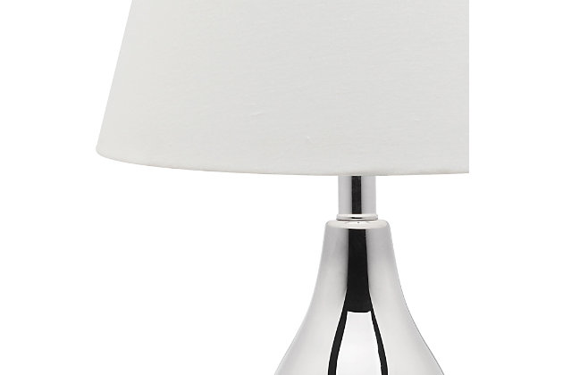 Brixton Double Gourd Table Lamp (Set of 2), Silver, large