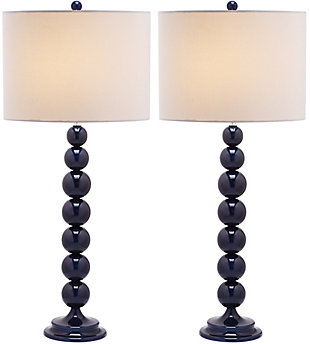 Griffith Stacked Ball Table Lamp (Set of 2), Navy, large