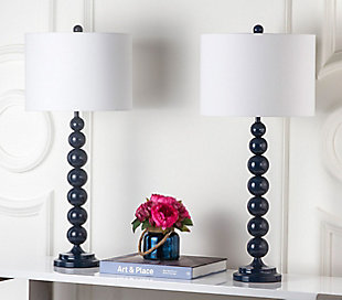 Griffith Stacked Ball Table Lamp (Set of 2), Navy, rollover