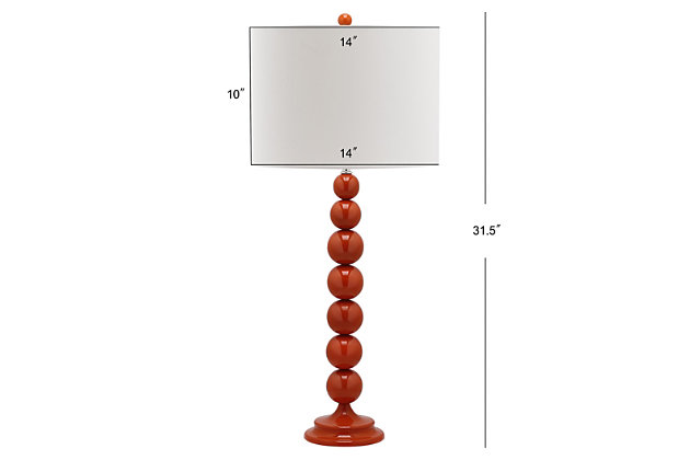 Griffith Stacked Ball Table Lamp (Set of 2), Orange, large
