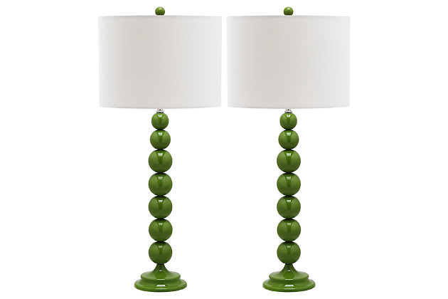 Griffith Stacked Ball Table Lamp (Set of 2), Avocado, large