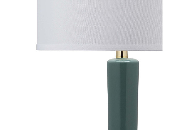 Luz Long Neck Ceramic Table Lamp (Set of 2), Marine Blue, large