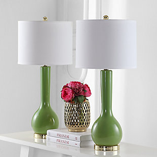 Luz Long Neck Ceramic Table Lamp (Set of 2), , rollover