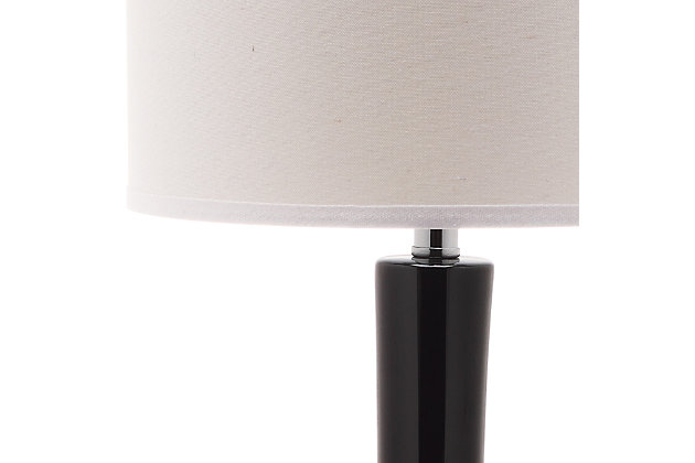 Luz Long Neck Ceramic Table Lamp (Set of 2), Black, large