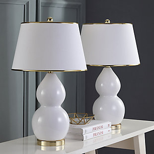 Phoe Double Gourd Ceramic Table Lamp (Set of 2), , rollover